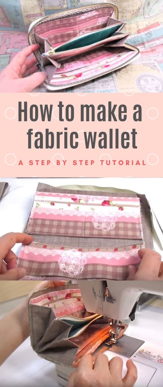 How to make a fabric wallet stitchandsewcraft.com #stitchandsewcraft #freesewing #longwallet #freesewingtutorial