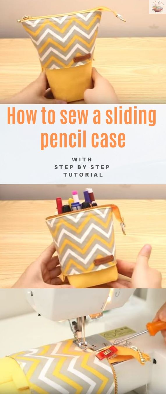 How to sew a sliding pencil case stitchandsewcraft.com #stitchandsewcraft #freesewing #pencilcase  #freesewingtutorial